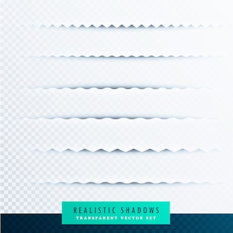Sombras realistas transparentes