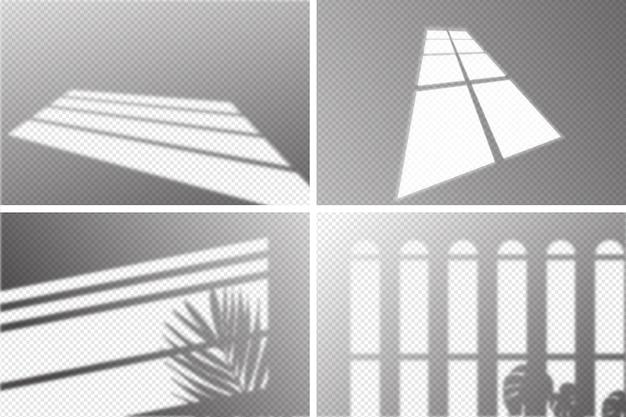 Sombras transparentes con efecto de superposición.