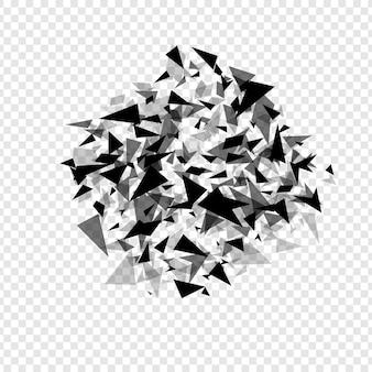 Sombrerero de hexágonos abstractos explosión plantilla de fondo de textura geométrica aislada ilustración vectorial