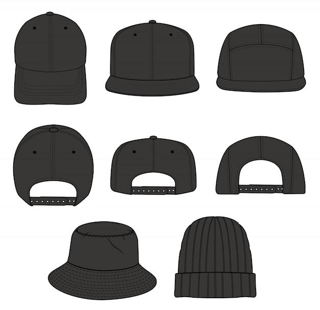 Sombrero beanie diseño de gorra