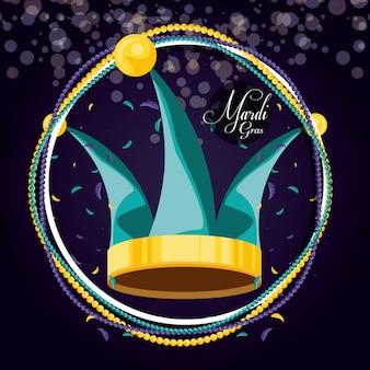 Sombrero bufón de mardi gras celebración