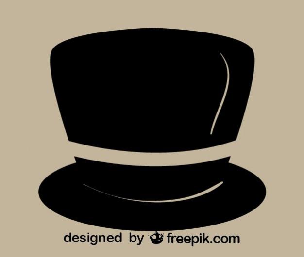 Sombrero de caballero retro alto elegante negro