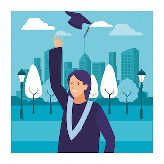 Sombrero de ceremonia de graduación femenina