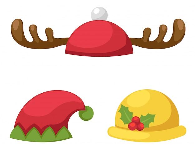Sombrero conjunto ilustración aislada