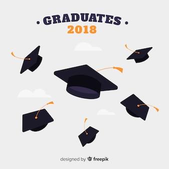 Sombrero de graduación volandos