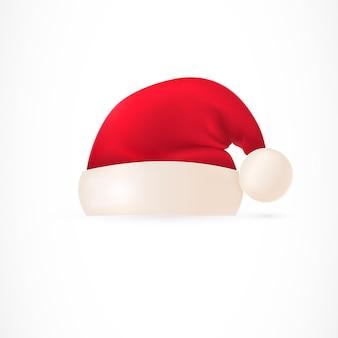 Sombrero de santa con pompom