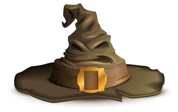 Sombrero de halloween de miedo. accesorio de bruja