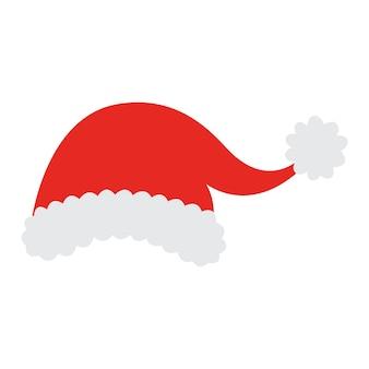 Sombrero de santa navidad. sombrero de copa rojo de santa