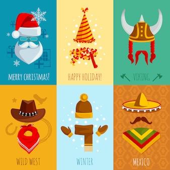 Sombreros y accesorios mini posters
