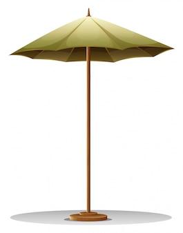 Una sombrilla de mesa