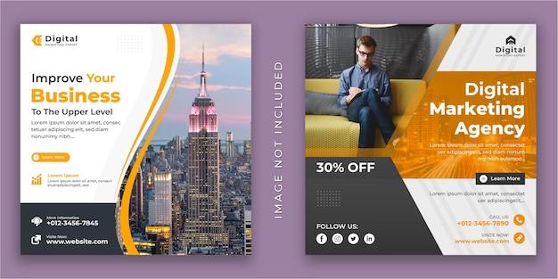 Somos agencia creativa y folleto de negocios corporativos plantilla de banner de publicación de instagram de redes sociales