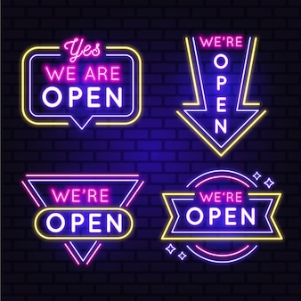 Somos una colección abierta de letreros de neón