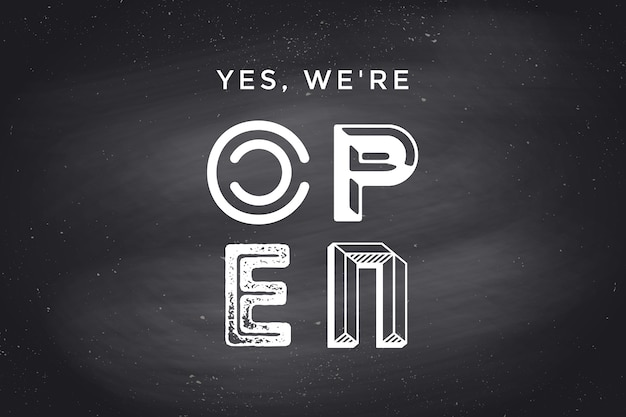 Somos concepto de signo de puerta abierta
