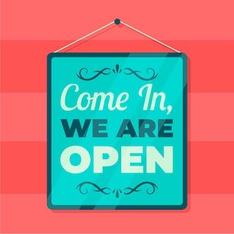 Somos diseño de letrero abierto