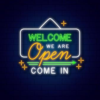 Somos tema de signo abierto vector gratuito