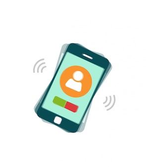 Sonando el teléfono móvil o llamando al teléfono inteligente.