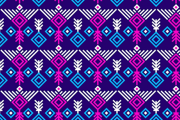 Songket de patrones sin fisuras vívidos violeta y rosa