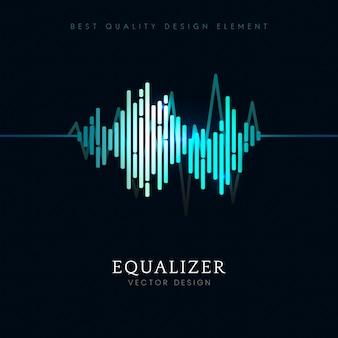 Sonido ecualizador de ondas de diseño vectorial.