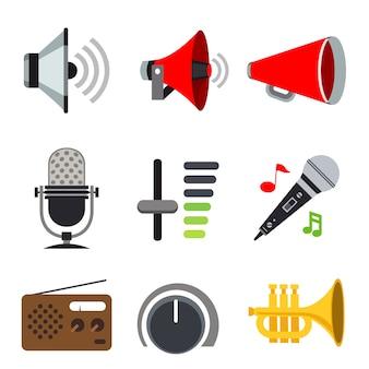 Sonido volumen del altavoz de audio ícono de señal de música de voz