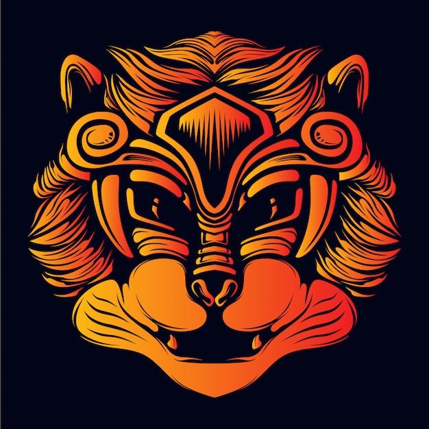 Sonriente, gato, cara, ojos decorativos, ilustración, ilustraciones