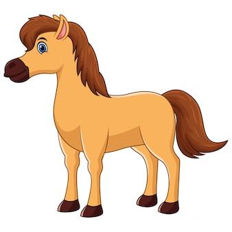 Sonrisa de personajes de dibujos animados lindo caballo
