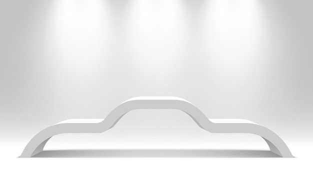Soporte en blanco blanco. podio. pedestal.