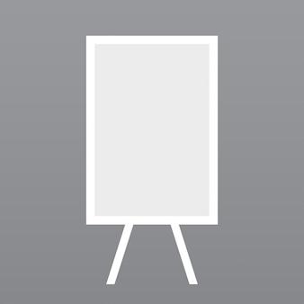 Soporte blanco, fondo gris claro
