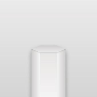 Soporte de producto en blanco geométrico de galería. soporte de producto en blanco geométrico de galería.