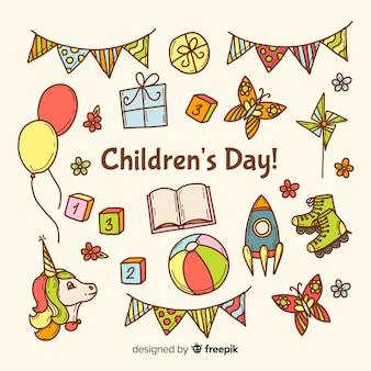 Sorteo colorido para el evento del día de los niños