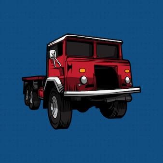 Sorteo de mano de coche de rescate de fuego rojo