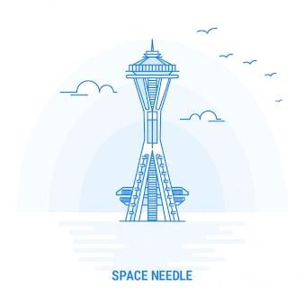 Space needle blue landmark