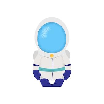 Spaceman sentado en la silla. astronauta, capitán, ficción.
