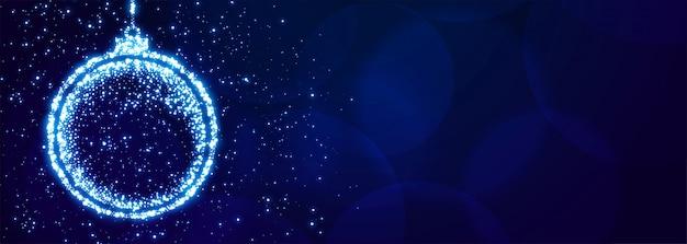 Sparkle christmas ball para el banner del festival de navidad