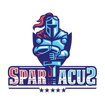 Spartacus spartan hero logo