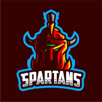 Spartans mascot gaming logo