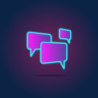 Speech bubble chatting icon concept