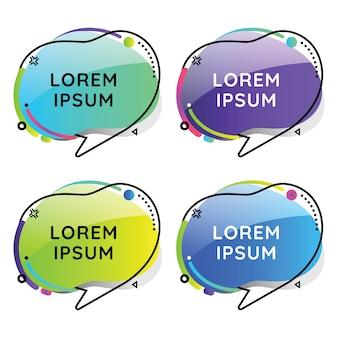 Speech bubles geométrico conjunto de colores