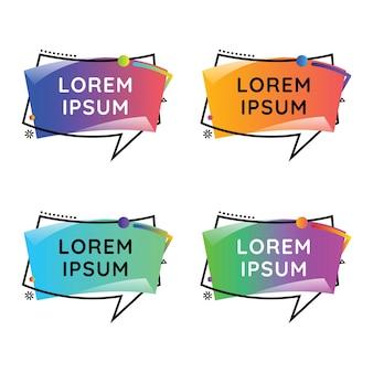 Speech bubles wavecolorful set