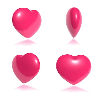 Spinning pink heart 3d arte movimiento