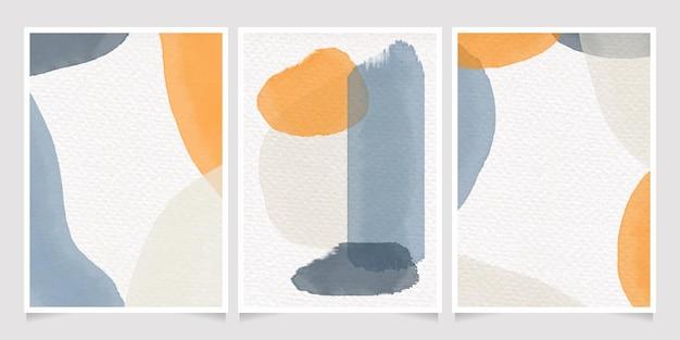 Splash abstracto colorido mínimo acuarela sobre fondo de tarjeta de invitación de papel