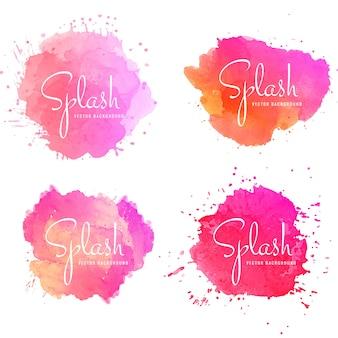 Splash colorido abstracto set vector