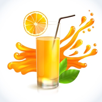 Splash de jugo de naranja