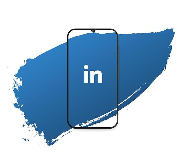 Splash de redes sociales linkedin