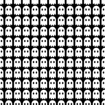 Spook halloween de patrones sin fisuras