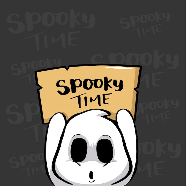 Spooky time halloween con fantasma