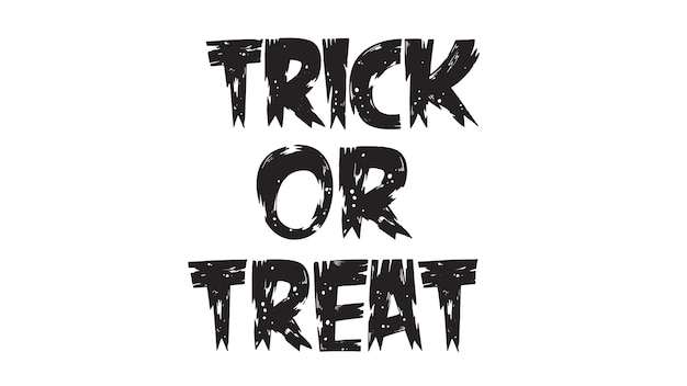Spooky trick or treat text