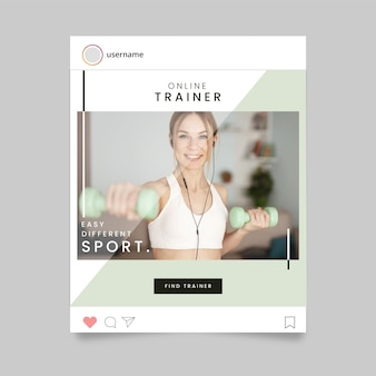Sport instagram post concept