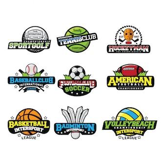 Sport logo internacional vector