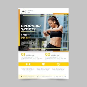 Sport poster style woman training