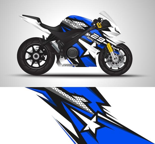 Sportbike moto automovilismo y diseño de vinilo adhesivo